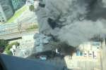 Un incendie s'est déclaré dans un poste électrique à Issy-les-Moulineaux, à proximité des voies ferrées.