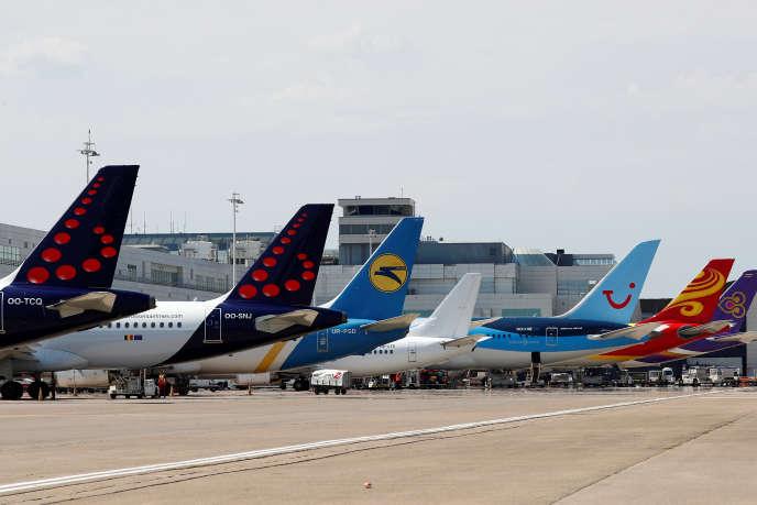 Le tarmac du très fréquenté aéroport de Zaventem, près de Bruxelles, en Belgique