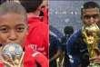 Montage diffusé sur Twitter montrant le footballeur Kylian Mbappé en 2008 et en 2018.