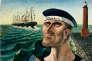 « Adieu à Hambourg» (1921 huile sur toile), d'Otto Dix .