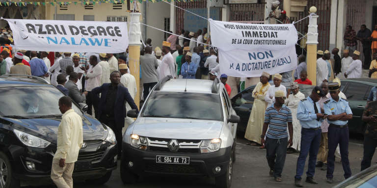 Manifestation de l'opposition comorienne contre le référendum, le 13 juillet 2018 à Moroni.