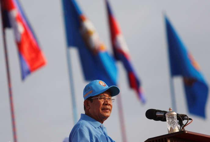 Le premier ministre cambodgien, Hun Sen, à Phnom Penh, vendredi 27 juillet.
