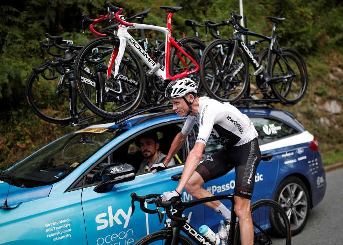 Le Britannique Chris Froome après la 19e étape du Tour de France, vendredi 27 juillet 2018.