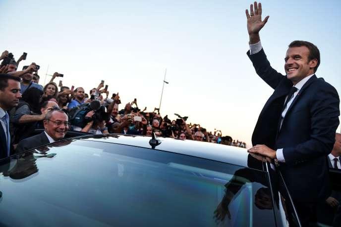 Le président Emmanuel Macron à Lisbonne (Portugal), le 27 juillet.
