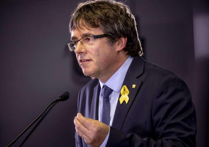 Carles Puigdemont, à Bruxelles, le 28 juillet.