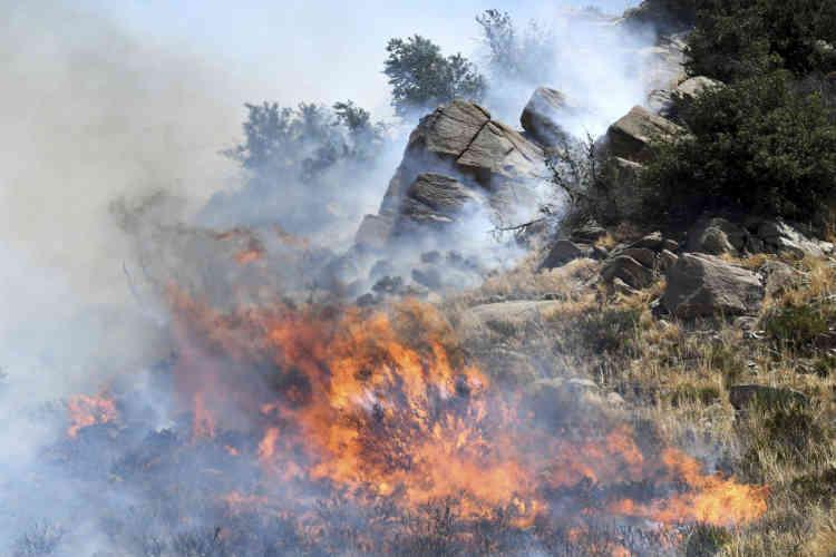 Le brasier qui sévit depuis mercredi dans la forêt nationale de San Bernardino, à environ 150km au sud-est de Los Angeles, n'était maîtrisé qu'à 17 %, selon un bilan samedi matin.