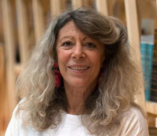 Barbara Cassin, à la Foire du livre de Francfort (Allemagne), le 10 octobre 2017.