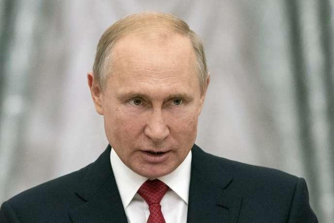 Le président russe Vladimir Poutine lors d'une cérémonie au Kremlin, à Moscou, le 28 juillet.