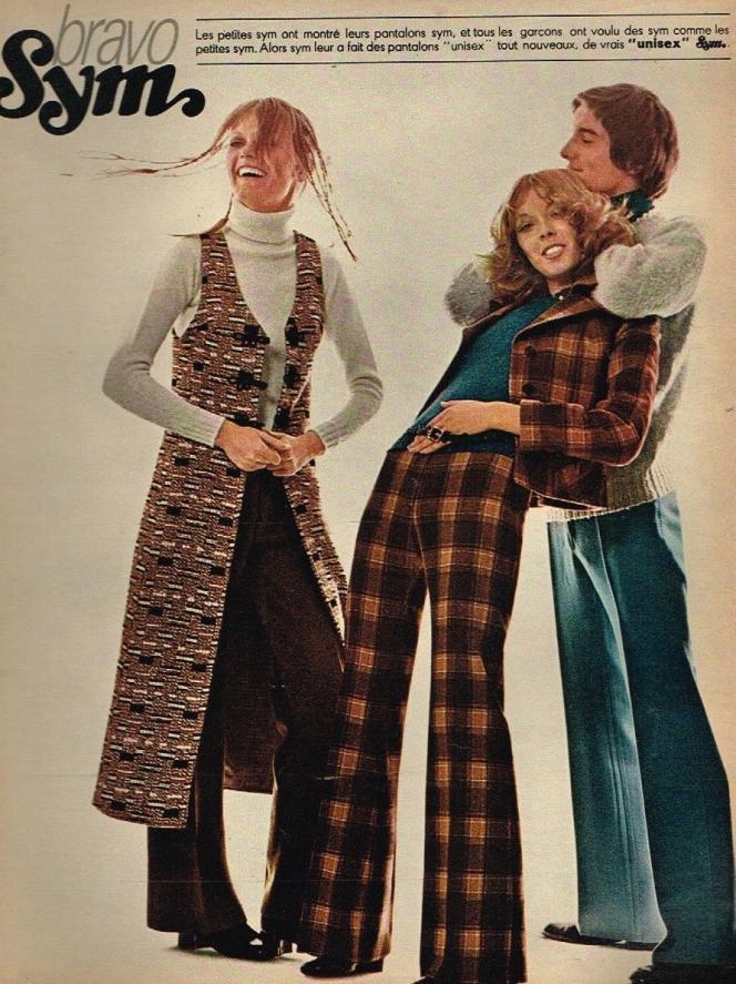 Une publicité pour des pantalons Sym, en 1970.