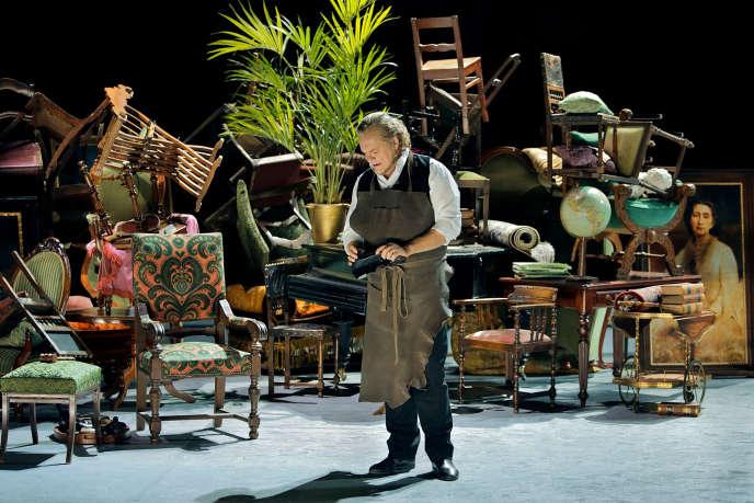 Michael Volle (Hans Sachs) dans« Les Maîtres chanteurs de Nuremberg» de Wagner.