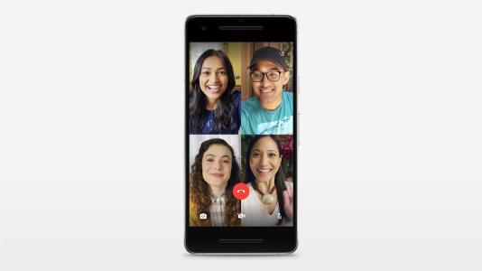 Quatre personnes peuvent désormais dialoguer lors d'un même appel audio ou vidéo.