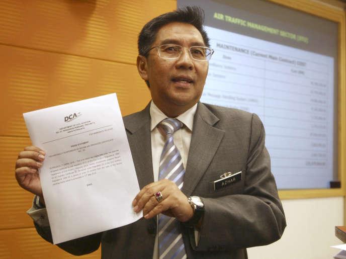 Le rapport souligne que le contrôle aérien n'a pas respecté les procédures opérationnelles habituelles, a souligné Azharuddin Abdul Rahman – ici en2016, àPutrajaya, en Malaisie.