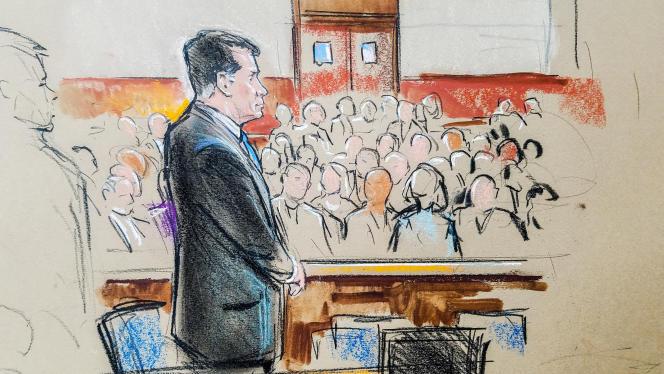 L'ancien directeur de campagne de Donald Trump, Paul Manafort, face à la cour, lors de l'ouverture de son procès à Alexandria, en Virginie, le 31 juillet.