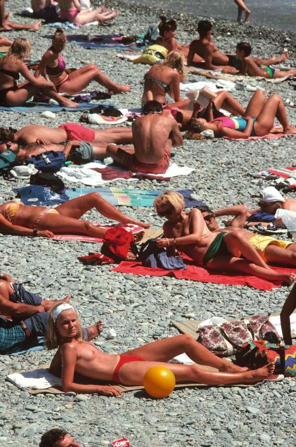 A Nice, sur la Côte d'Azur, en 1992.