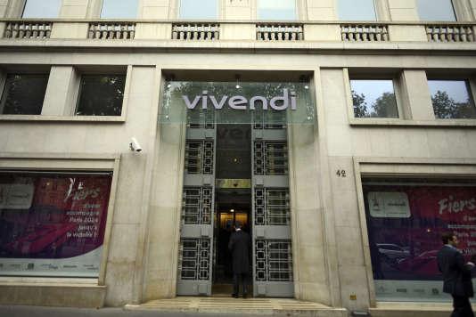 Le siège de Vivendi, à Paris, en 2017.