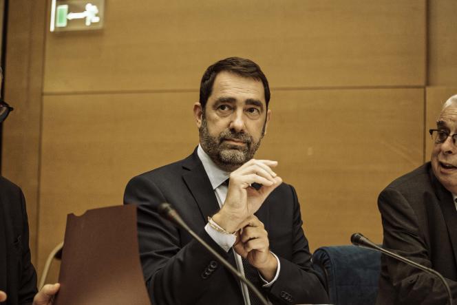 Christophe Castaner, secrétaire d'Etat chargé des relations avec le Parlement, au Sénat, le 31 juillet.