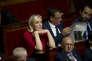 Marine le Pen, présidente du Rassemblement national, à l'Assemblée, le 31 juillet, à Paris.