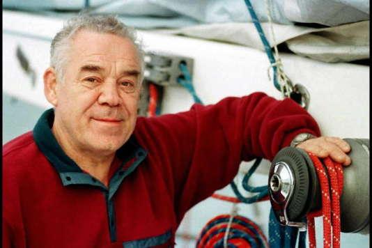 Le navigateur Tony Bullimore au départ du troisième Vendée Globe