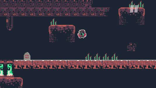 «Dere Exil.exe», un jeu de plate-forme expérimental.