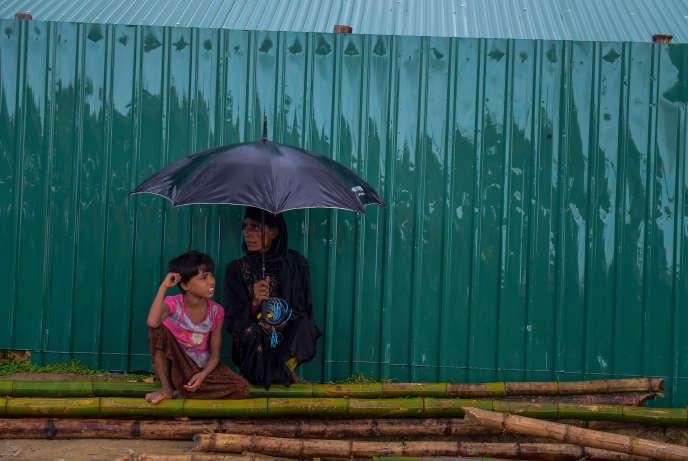 Dans le camp de réfugiés rohingya de Balukhali, au Bangladesh, le 21 juillet.