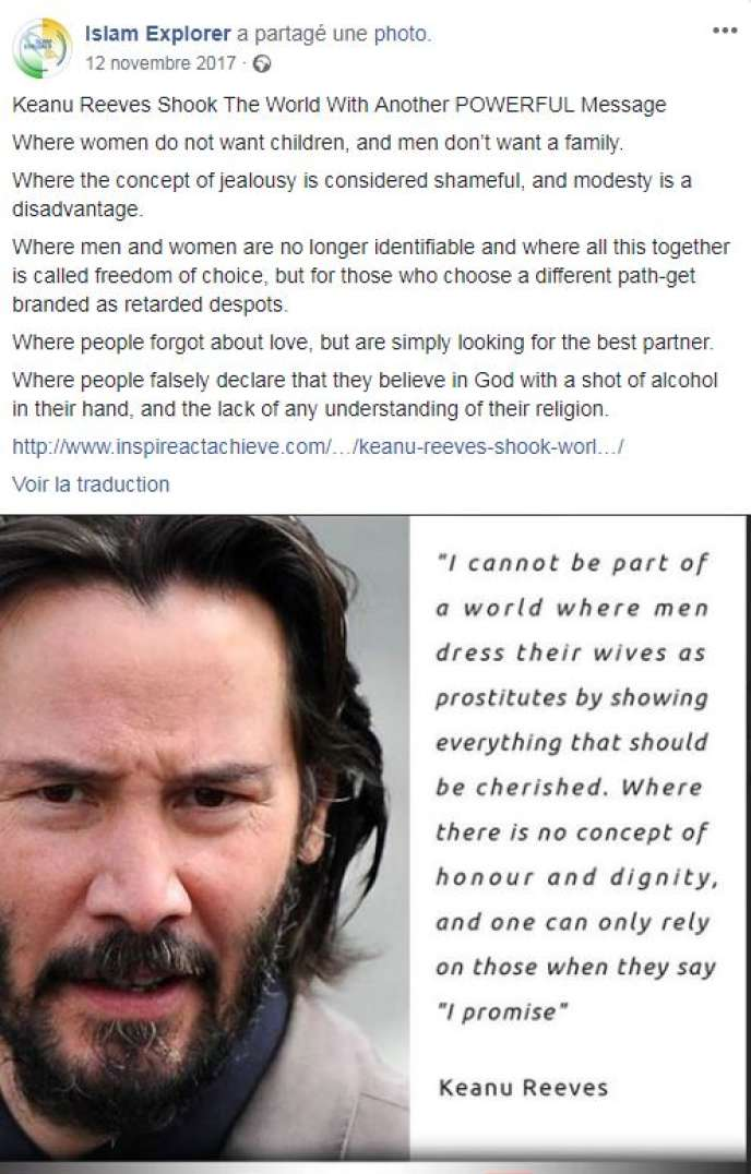 Une Fausse Citation De Keanu Reeves Circule Sur Les Réseaux