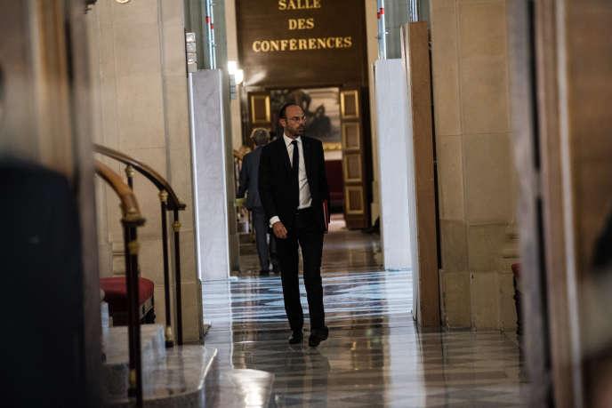 Le premier ministre, Edouard Philippe, à l'Assemblée nationale, le 31 juillet.