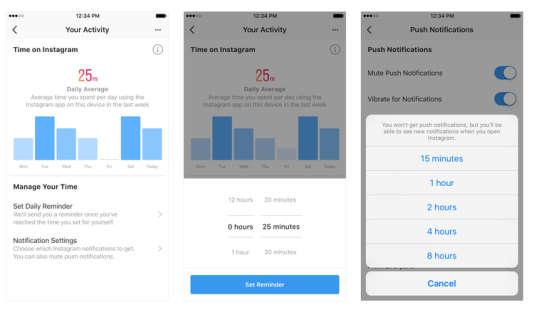 A droite, on peut réduire au silence les notifications pendant un laps de temps choisi par l'utilisateur.