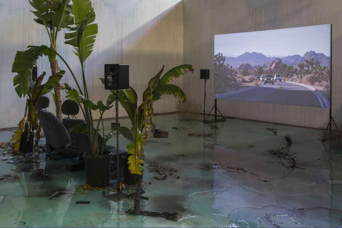 Vue de l'exposition «A Way to Leak, Lick, Leek», à la FLAX Foundation de Los Angeles, en 2016.