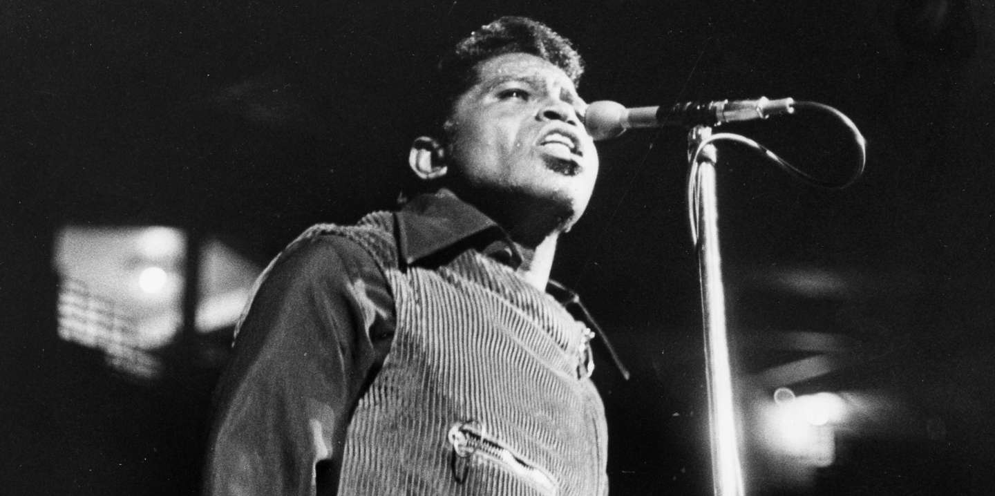 BOSTON, MA - APRIL 5: James Brown performs at the Boston Garden on April 5, 1968. (Photo by Bob Dean/The Boston Globe via Getty Images)