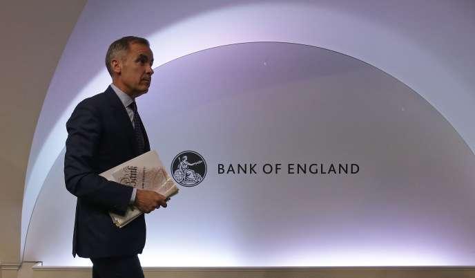Mark Carney, le gouverneur de la Banque d'Angleterre, à Londres, le jeudi 2 août.
