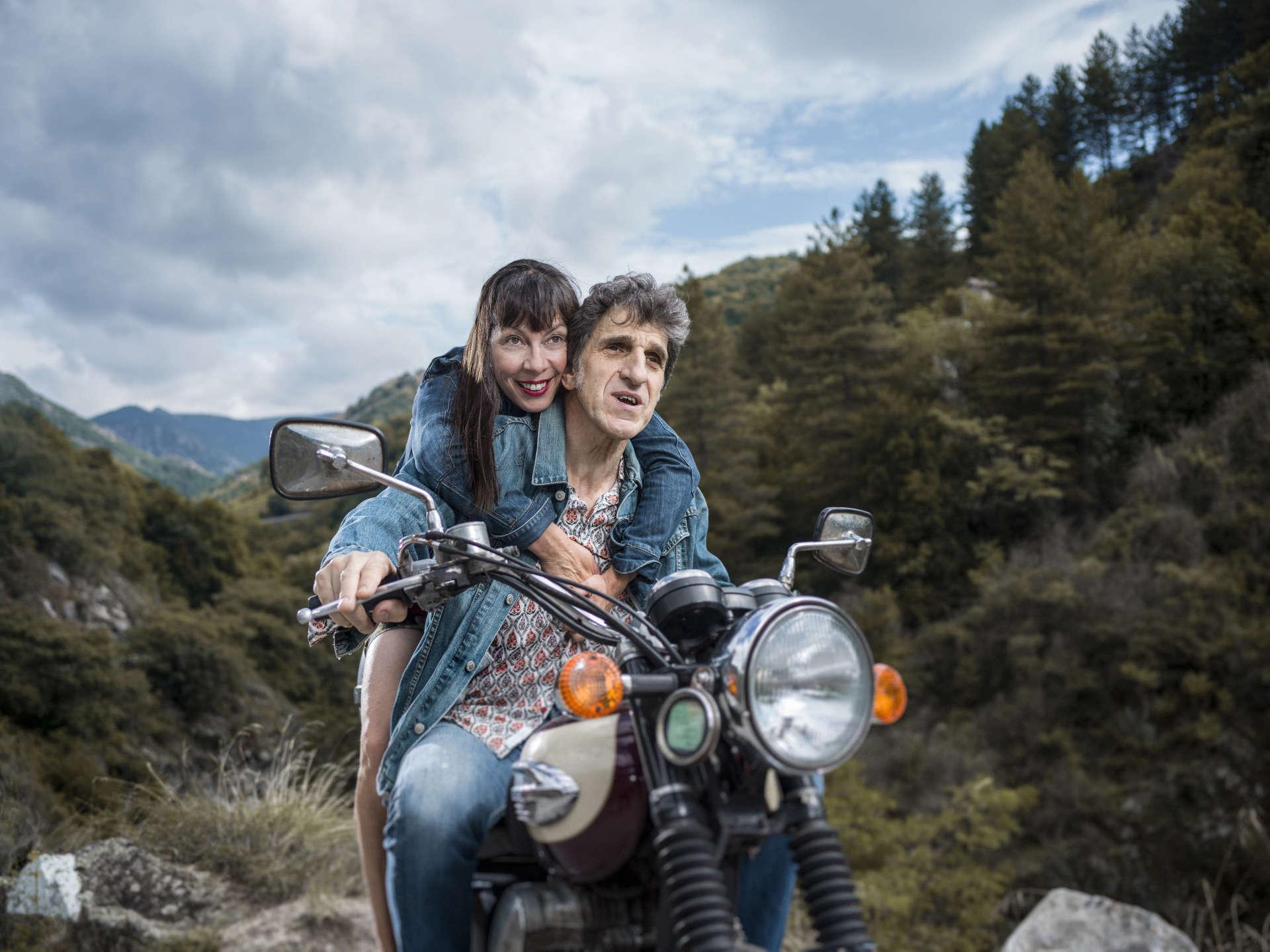Corinne et Gilles Benizio àAntraigues-sur-Volane (Ardèche), le 21 juillet.