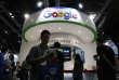 Le stand de Google à la Global Mobile Internet Conference de Pékin, en 2016.