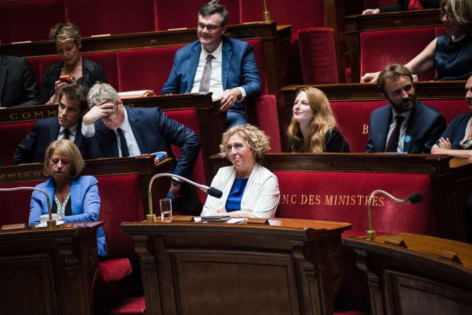 Muriel Pénicaud, ministre du travail, à l'Assemblée nationale, le 1er juillet.