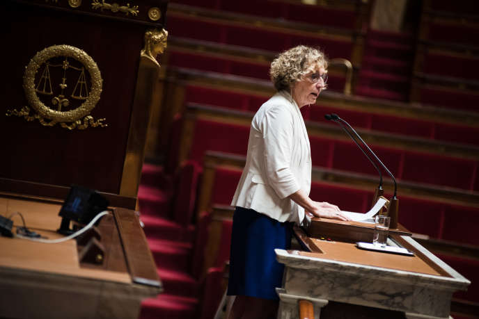 La ministre du travail, Muriel Pénicaud, à l'Assemblée nationale à Paris, le 1er août.
