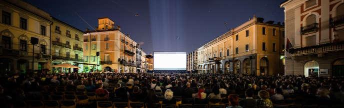 La Piazza Grande à Locarno en 2017.