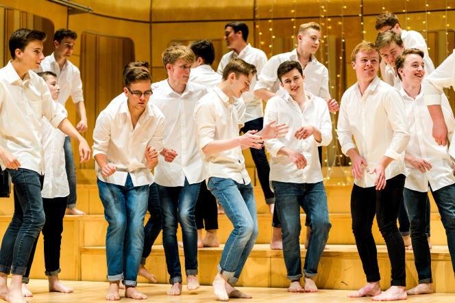 «Only Boys Aloud» au Royal Welsh College of Music & Drama de Cardiff, le 20 juillet.