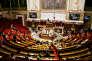 © Julien Muguet pour Le Monde, Paris, France le 1 aout 2018 - Vote du projet de loi sur les violences sexuelles et sexistes a l Assemblee nationale. Sur les ecrans les resultats du vote.