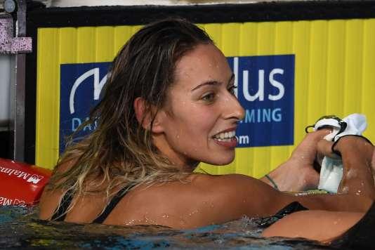 La nageuse française, Fantine Lesaffre, le 3 août 2018 à Glasgow