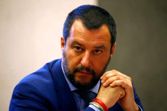 Matteo Salvini,le ministre de l'intérieur italien, à Rome, le 20 juin 2018.