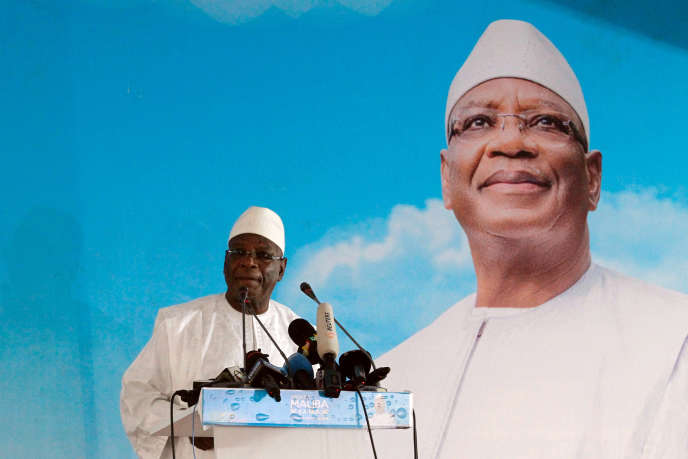 Ibrahim Boubacar Keita, le 3 août, à Bamako.