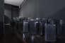 Kader Attia, Untitled (Skyline), 2007-2012. Réfrigérateurs, peinture noire, tesselles de miroir. Collection MAC/Val.