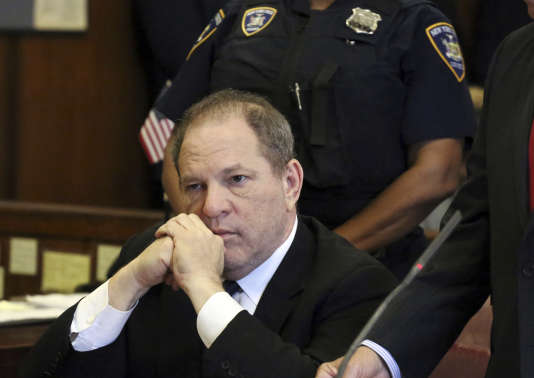 Harvey Weinstein en juillet au tribunal de New York.