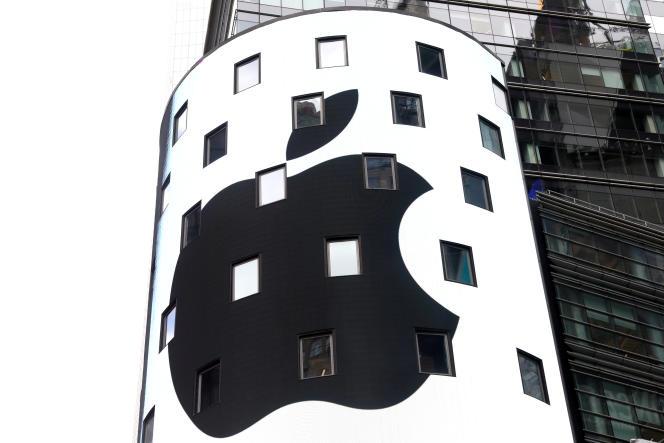 Sur la façade du Nasdaq à New York (Etats-Unis), le 2 août.