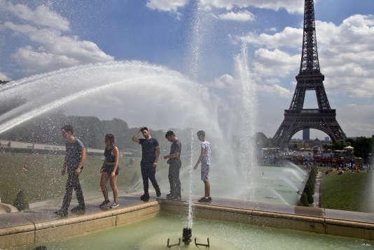 Au Trocadéro à Paris, le 1er août.