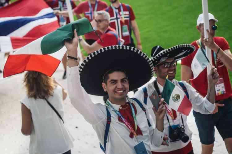 Les 98athlètes de l'équipe mexicaine étaient également au rendez-vous avant la cérémonie d'ouverture, à Paris.