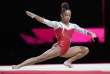 Mélanie De Jesus Dos Santos, lors de l'épreuve au sol des championnats d'Europe de gymnastique, à Glasgow le 5 août.