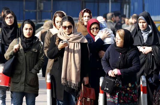 Dans les rues de Téhéran, en Iran, le 7 février.