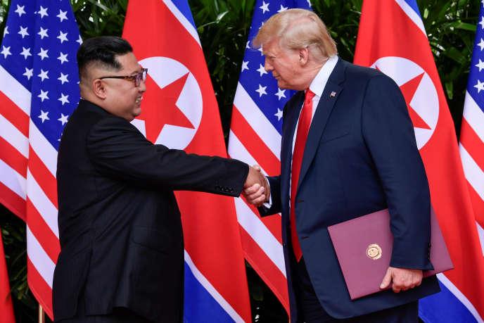 L'année 2018 a été marquée par un dégel spectaculaire avec Washington, aboutissant au sommet entre Donald Trump et Kim Jong-Un le 12 juin 2018 à Singapour.