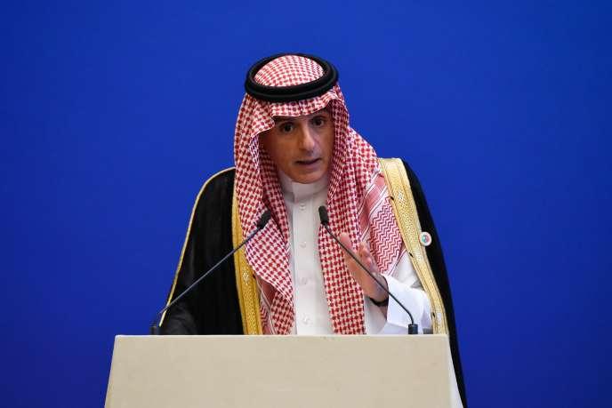 Le ministre des affaires étrangères saoudien, Adel Al-Jubeir, lors d'une conférence de presse à Pékin, en Chine, le 10 juillet.