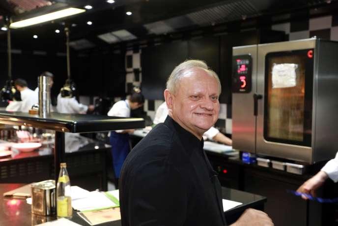 Joël Robuchon à Bordeaux dans son restaurant La Grande maison, le 6 août 2018.